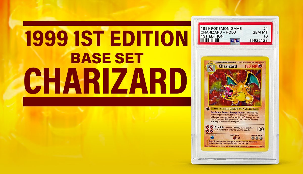 1999 Pokemon 1st Edition Charizard Holo Sells for Over $220,574